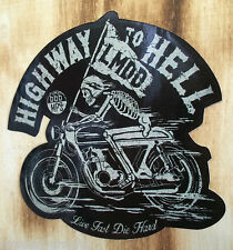 "Biker Sticker Bobber Skull Chopper ""Highway"" Harley & Custom Aufkleber Oldschool"
