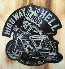 """Biker Sticker Bobber Skull Chopper """"Highway"""" Harley & Custom Aufkleber Oldschool"""