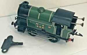 Hornby Tinplate Clockwork O Gauge Type 101 LNER 0-4-0 Steam Locomotive 460 + Key