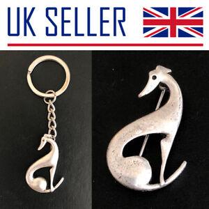Greyhound/Whippet Gifts - Keyring, Brooch/Pin, Metal, Silver, Dog, Pet, Racing