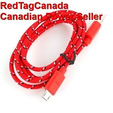 1 m Micro USB Knit Charging Data Cable for Samsung, HTC, Nokia Cell Phones Red