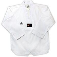 Adidas Adi-Club Taekwondo Uniform Gi TKD Dobok - White Collar