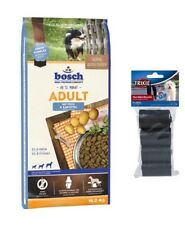 15kg Bosch Adult Fisch & Kartoffel Hundefutter + 80 Stk. Kotbeutel