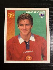 Merlin Premier League 97 David Beckham Football Sticker #290 * Manchester United