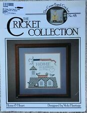 Home & Heart and Nantucket Angel The Cricket Collection Cross Stitch Pattern #48
