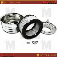 "Fits Chevy Ford Mopar 4"" Louvered Style Air Cleaner Set 1BBL 2BBL"