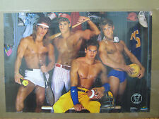 Perfect male locker room Hot Guys ORIGINAL Vintage Poster 1989 5269