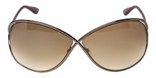 Tom Ford Miranda FT 0130 495 36F Bronze Gradient Butterfly Lens Sunglasses