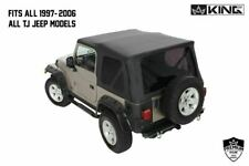 King 4WD Replacement Soft Top TINTED REAR windows 1997-2006 TJ FOR Jeep Wrangler