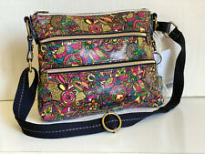 SAKROOTS ARTIST CIRCLE RAINBOW SPIRIT DESERT CROSSBODY MESSENGER SLING BAG PURSE