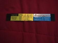 1982 1983 CHEVROLET CAMARO HARRISON AIR CONDITIONING EVAPORATOR BOX DECAL