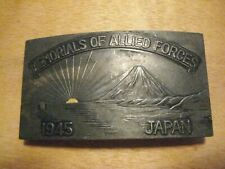 Wwii Era Memorial of Allied Forces Japan 1945 Belt Buckle