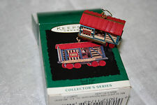 Hallmark Keepsake Miniature Ornament - Noel R.R. - Stock Car