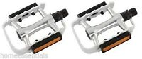 "ETC Mtb Pedals Bike Cycle Bicycle Alloy 9/16"" Silver BMX"