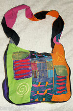 Barefoot Hippy New Age Patchwork Shoulder Bag. Hand Made in Nepal (Fairtrade)