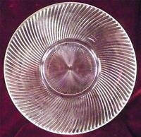 Diana Round Platter Clear Depression Glass Federal Vintage Plate Large NICE COND