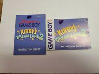 Kirby's Dream Land 2 (Nintendo Game Boy, 1995) Instruction Manual ONLY