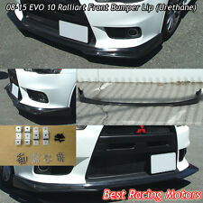 Ralliart Style Front Bumper Lip (Urethane) Fits 08-15 Mitsubishi EVO 10