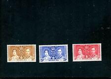 LOT 79168 MINT H 115-7  BERMUDA  BRITISH COLONY  KING GEORGE V1 CORONATION ISSUE