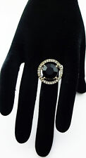 INC INTERNATIONAL CONCEPTS Black Stone & Gold tone  Ring Msrp $26.50 *NEW*