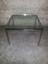 COFFEE TABLE design FLORENCE KNOLL midcentury 70s tavolino vetro spesso no Eames