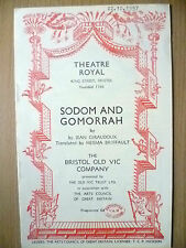 Theatre Royal, OLD VIC COMPANY 1957- SODOM AND GOMORRAH by Jean Giraudoux