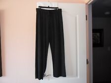 NWT $218 EILEEN FISHER CHARCOAL LIGHTWEIGHT COZY TENCEL STRETCH KNIT PANTS - M