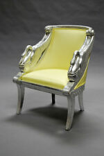 PHILIPPE STARCK SWAN CHAIR 1980 RARE POLTRONA IN LAMINA D'ARGENTO