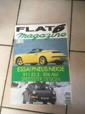 FLAT 6 N 22 12/1992 Porsche Essai Pneus Neige 911 E2.2 356 Alu Speedster H62
