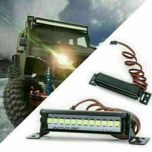 1:10 Scale Bright LED Roof Light Lamp Bar For Traxxas TRX4 SCX10 RC Crawler ##