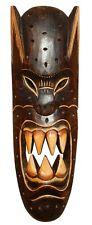 Schöne 50 cm Teufel Holz Maske Gothik Afrika Wandmaske Handarbeit Bali Maske69