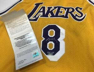 KOBE BRYANT Autographed Los Angeles Lakers Throwback Authentic Jersey UDA LE 108