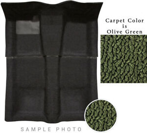 66-70 Coronet Carpet Set Olive Green 509 4 Speed Manual Trans 2 Piece Clearance