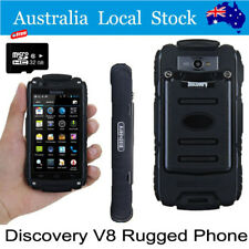 32G Discovery V8 Smartphone Waterproof Rugged Android Mobile Phone Black MTK6582
