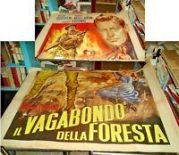 IL VAGABONDO DELLA FORESTA manifesto 4F orig. 1948 HOLDEN MITCHUM YOUNG
