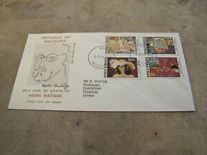 1979 First Day Cover/ FDC - Maldives - Artist Henri Matisse