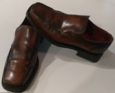 Base London Mens Leather Casual Dress Loafer Shoes BROWN EUR Sz 41 US 8-8.5 EUC.