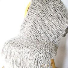 Throw Blanket Light Grey Afghan Handmade NWOT Gray Afghan MADE TO ORDER