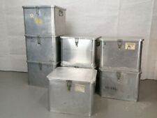British Army - Military - Lockable Aluminium Catering Utensil Storage Box Case
