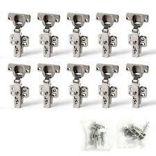 10 x Topfband Topfbänder mit Dämpfer + Kreuzplatte Scharnier Topfscharniere
