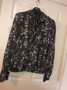 Mens Medium Just Cavalli Jacket Nylon Cammo Genuine Authentic Cavalli Beachwear