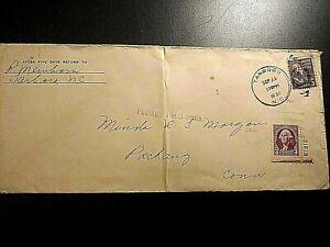 1939 US Cover - Tarboro, NC Postmark; 3c Postage Due