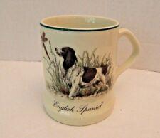 English Spaniel Collectible Coffee Mug Trim Green Rim