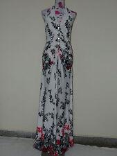 Neues Dress V Abendkleid Partykleid Cocktail Kleid Gr. L Weiß Geblümt NEU/OVP