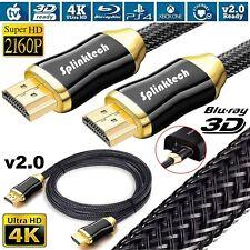 Arcas Cavo HDMI Oro Nylon Intrecciato Alta Velocità HD 1080p 1,5m 3M 5m 10m Ce