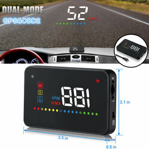 Head Up Display for Car Truck OBDII HUD Color LED Projector Speed Warning System