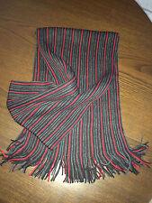 Echarpe rayée (noire, rouge, gris) - 100% polyester