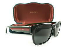 Gucci Sunglasses GG0340S 006 Black Multicolor Gray New Authentic