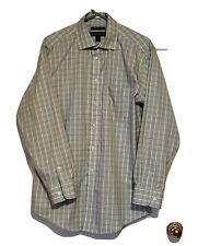 Joseph & Feiss Mens Shirt Long Sleeve Classic Fit 15.5 in. Plaid 32/33