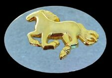 Galloping Horses Horse Cowboy Cowgirl Rodeo Western Belt Buckle